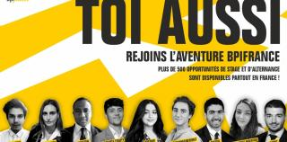 BPIFRANCE : PLUS DE 500 STAGES ET ALTERNANCES À POURVOIR PARTOUT EN FRANCE !