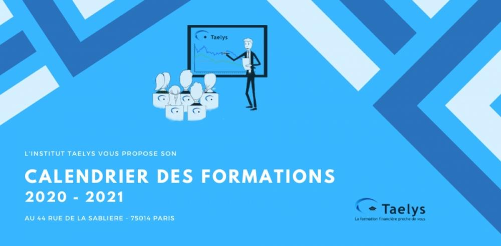Calendrier des formations Taelys 2020-2021 !