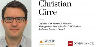 Découvrez l'interview exclusive de Christian Cirre, diplômé d'un master 2 Finance, Management Financier de L'IAE Paris – Sorbonne Business School