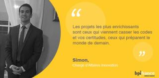 Financer l'Innovation c'est le job de Simon chez Bpifrance