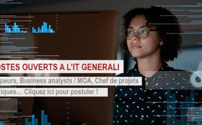 Generali France recrute : 100 postes IT ouverts !