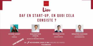 Replay Live : Etre DAF en start-up, en quoi cela consiste ?