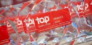 Siemens France certifié Top Employers France 2014